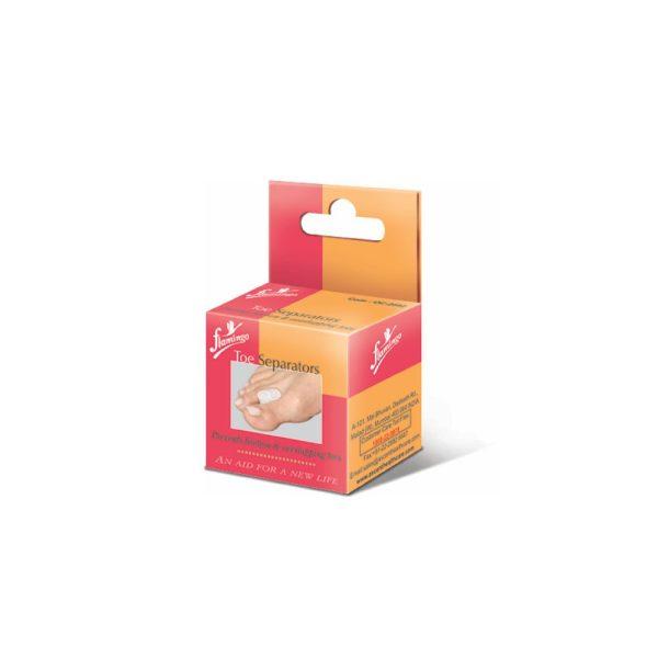 Flamingo Premium Silicon Toe Separators (Pair)-Universal