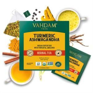 VAHDAM TEAS Turmeric Ashwagandha Herbal Tea Tisane