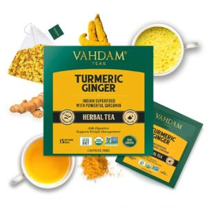 VAHDAM TEAS Turmeric Ginger Herbal Tea Tisane
