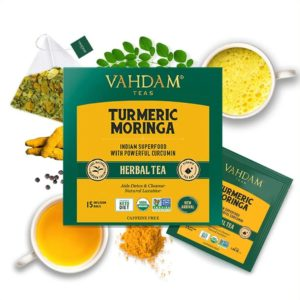 VAHDAM TEAS Turmeric Moringa Herbal Tea Tisane