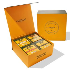 VAHDAM TEAS Turmeric Wellness Kit – 60 Tea Bags